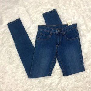 NWT Cheap Monday Low Zip Blue Jeans